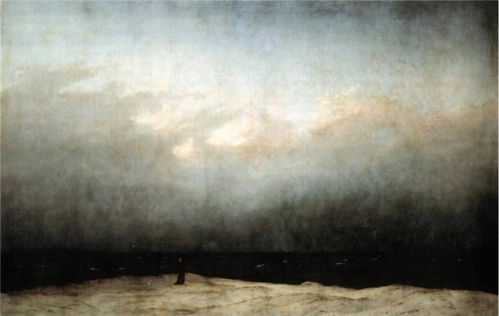 Der Mönch am Meer, 1808-1810