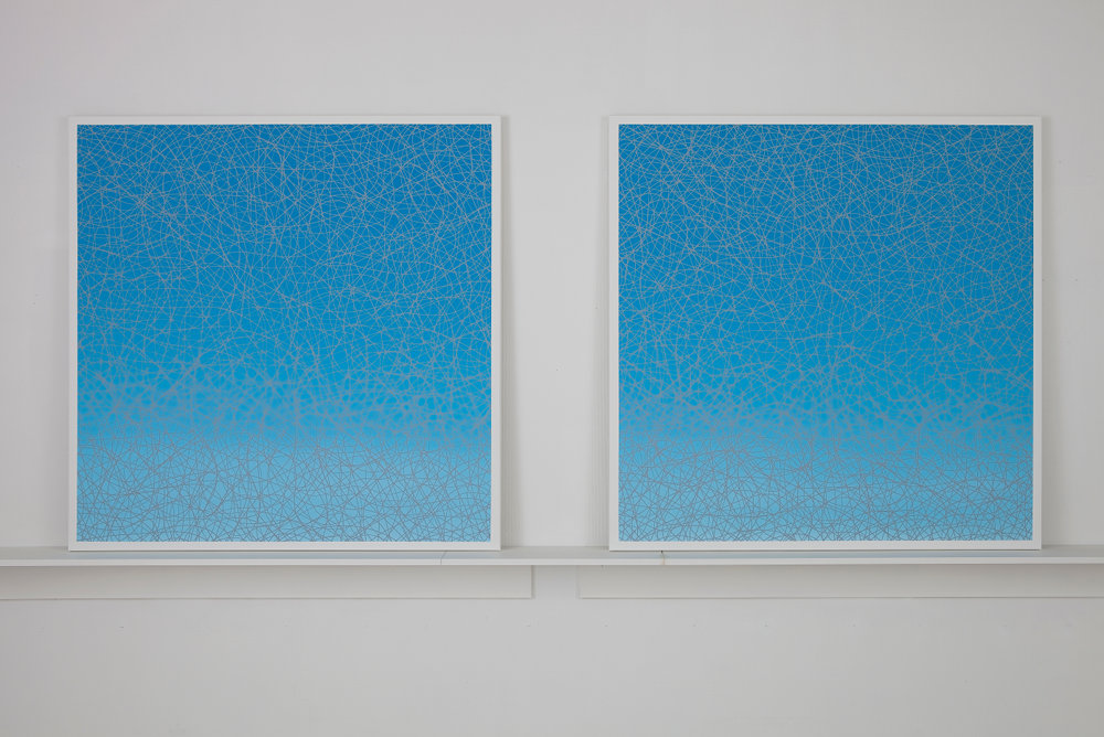 Oil on Canvas (Diptych), 2010